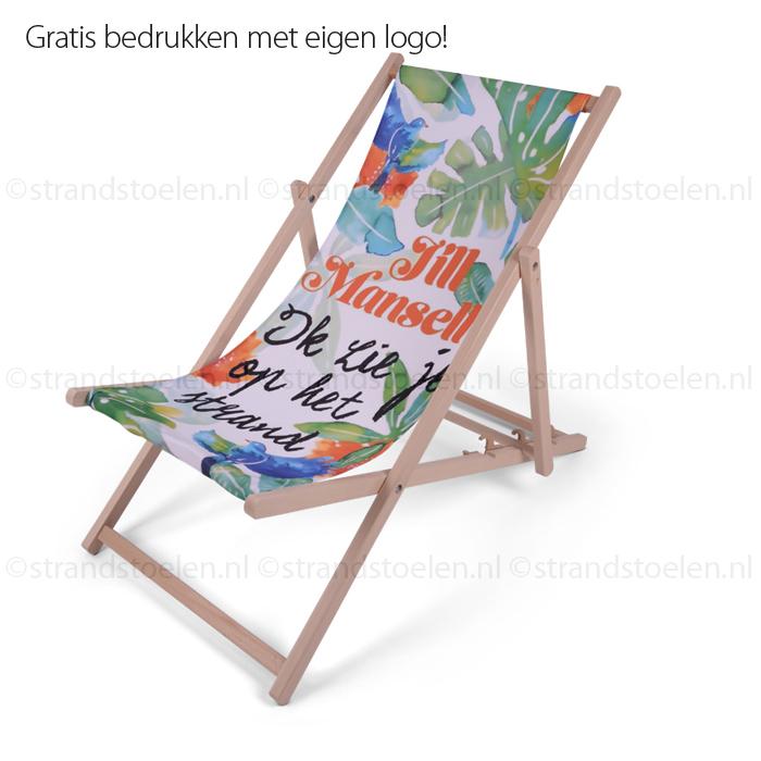 strandstoel volledig bedrukt