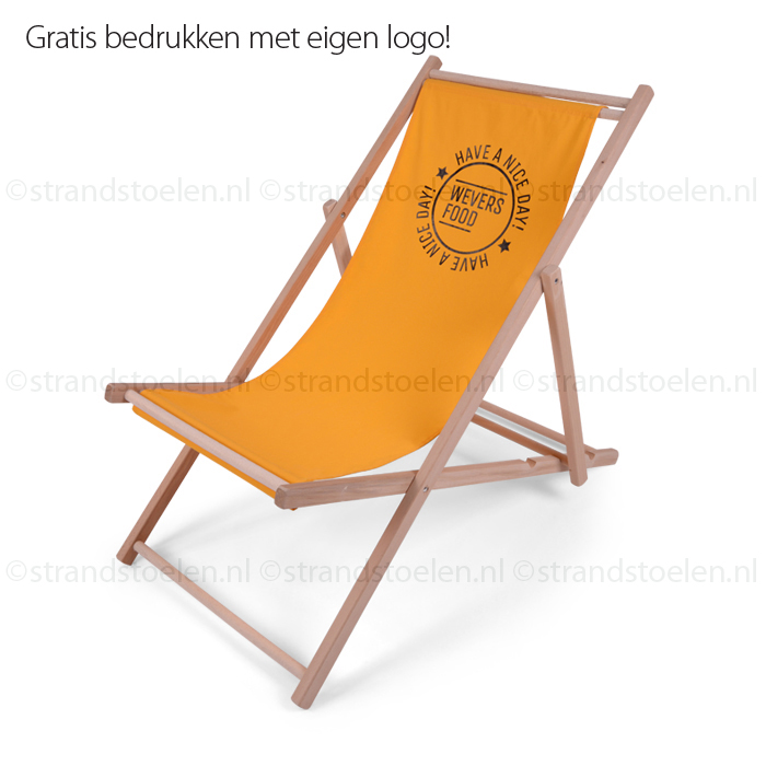 Houten Strandstoel Met Armleuning.Strandstoelen Met Uw Eigen Logo