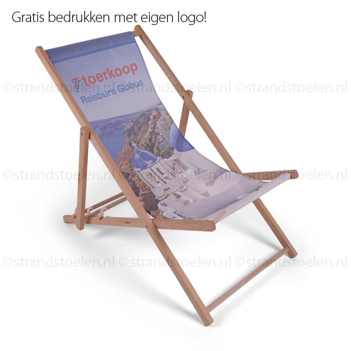 Strandstoelen,ligstoelen,bedrukken,logo