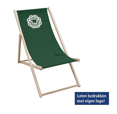strandstoel met logo groen